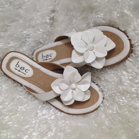 Born shoes boc concept white flower sandals poshmark boc born concept white flower sandals mightylinksfo